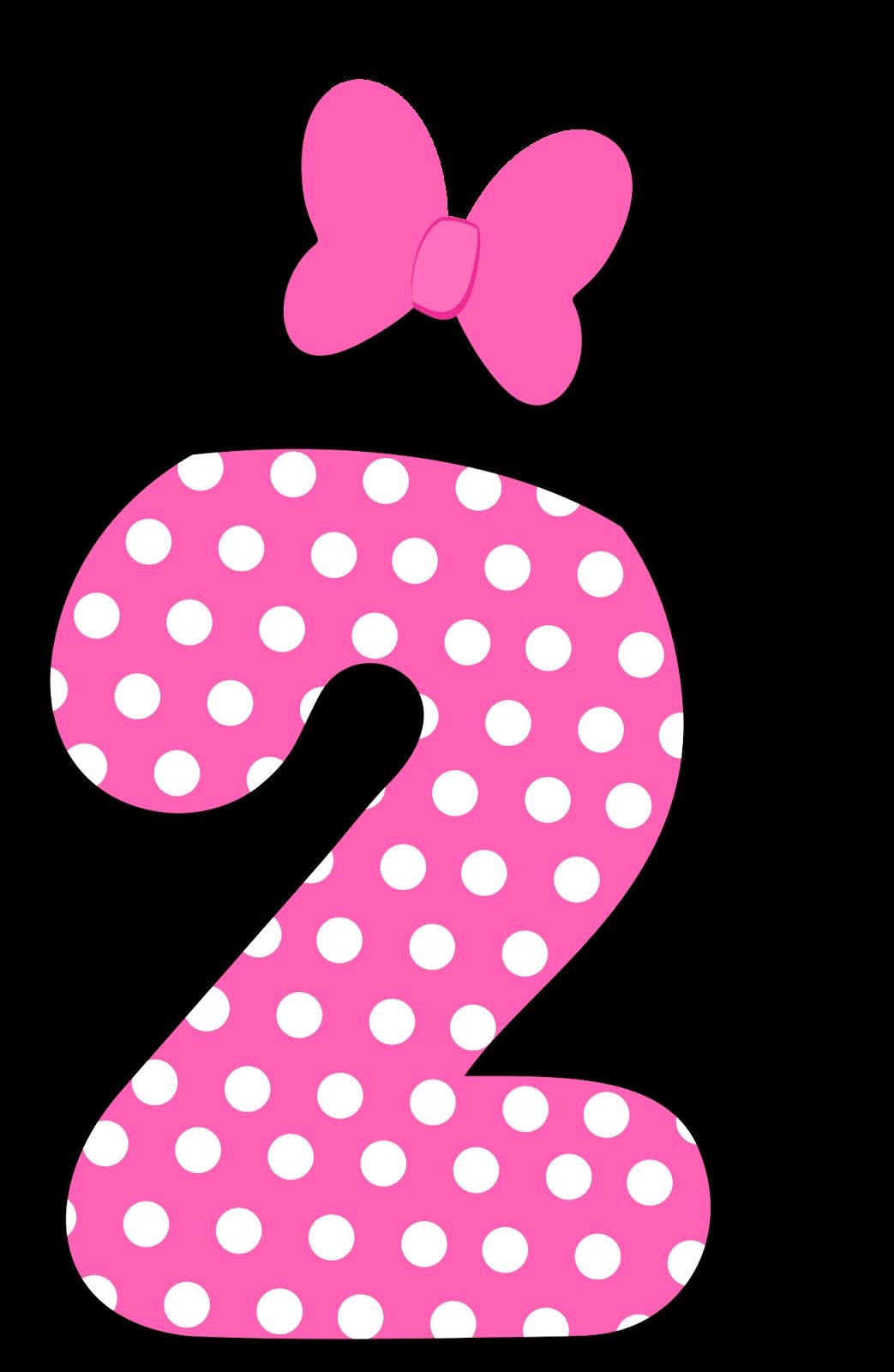 Números a lo Minnie en Rosa..