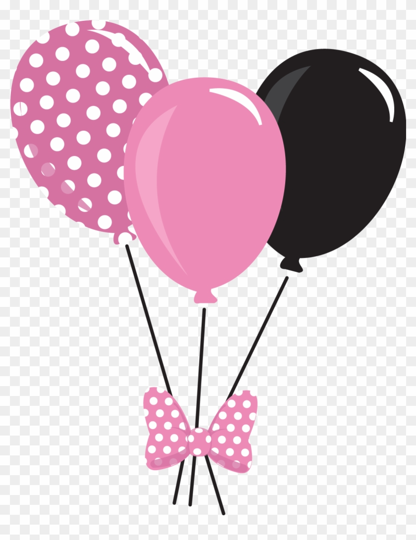 Minnie Mouse With Balloons Png & Free Minnie Mouse With.