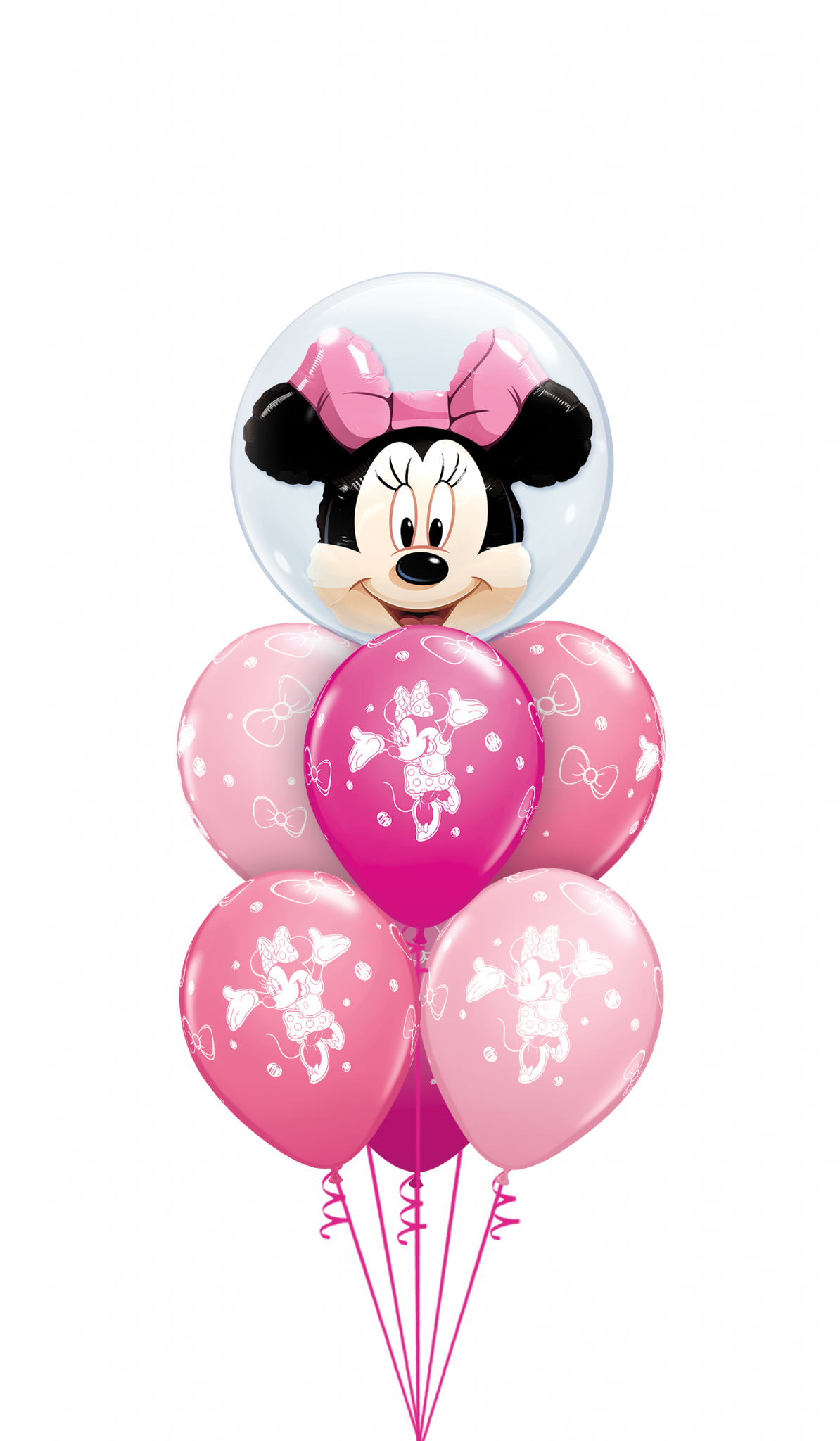 Minnie Mouse Pink Bubble Bouquet Bubble Attractive, stylish and good  quality foil balloon & Birthday.
