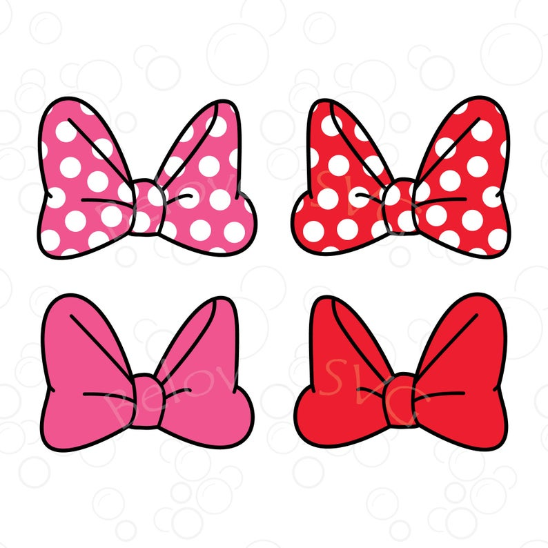 Minnie Mouse Bow Svg, Minnie Bow Svg, Disney Bow Svg, Polka Dots Bow Svg,  Minnie Bow Clipart, Bow SVG, Png, Silhouette, Cut File.