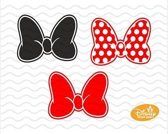 Minnie mouse bow art.
