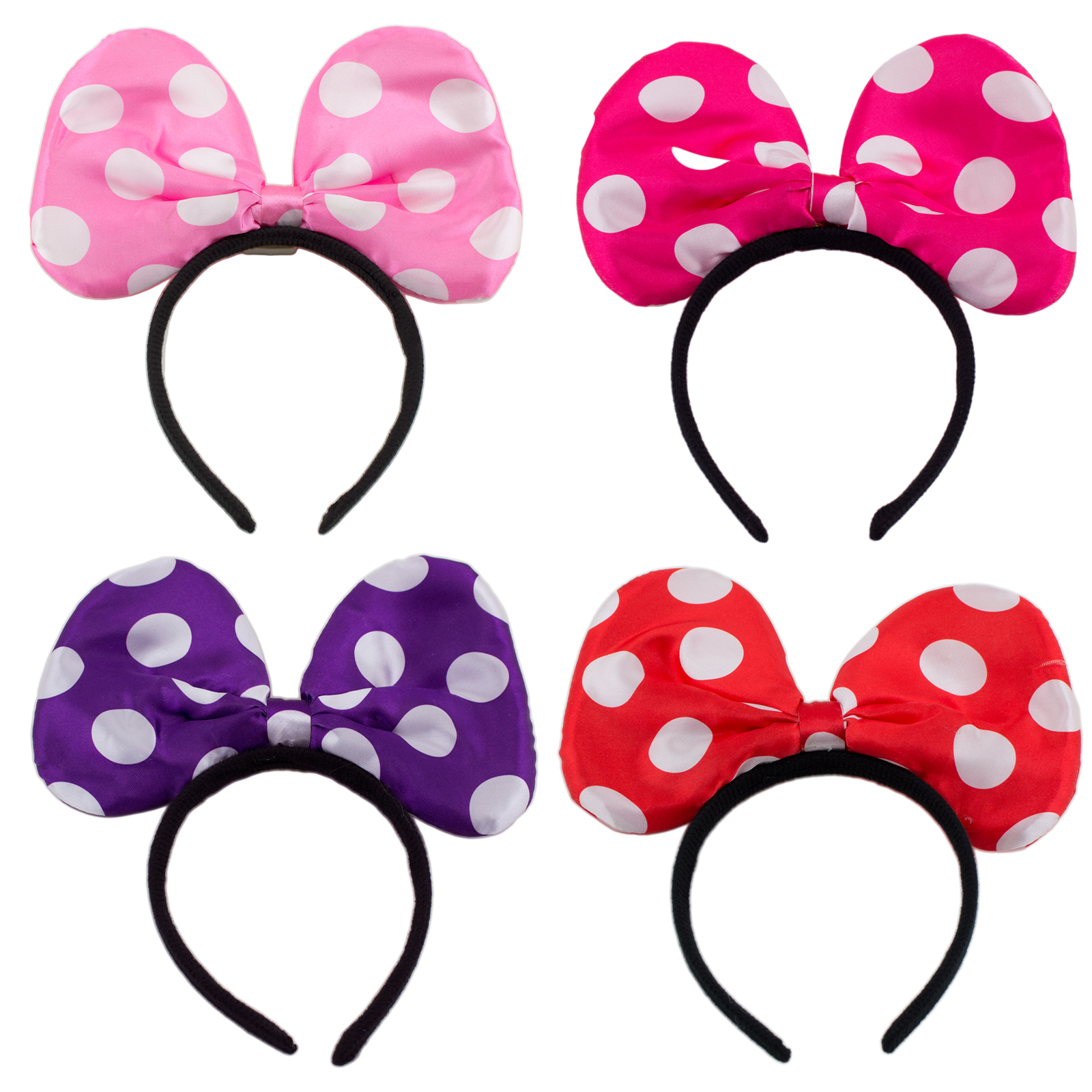 minnie mouse bow Light up minnie mickey mouse bows polka.