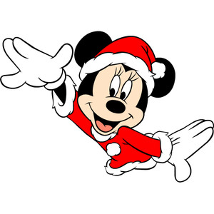 Minnie Mouse Christmas Sacrf Clipart.