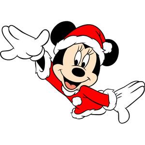 Minnie Mouse Christmas Sacrf Clipart.