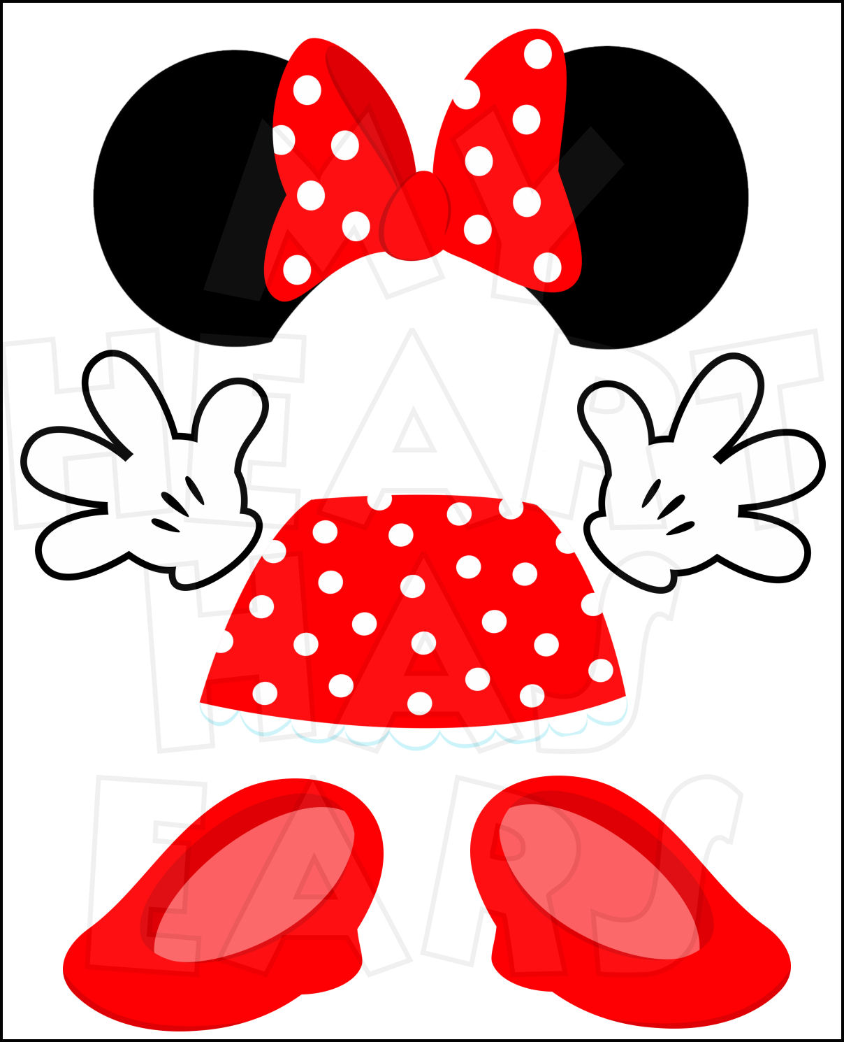 Minnie mouse clipart #5