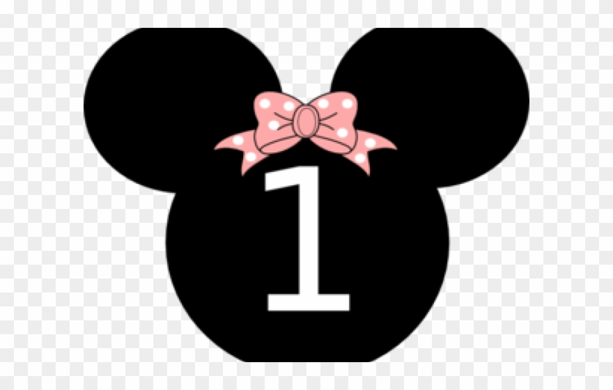 Minnie Mouse Clipart Number One.