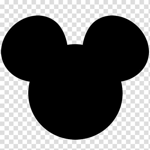 Mickey Mouse Minnie Mouse Silhouette , ears transparent.