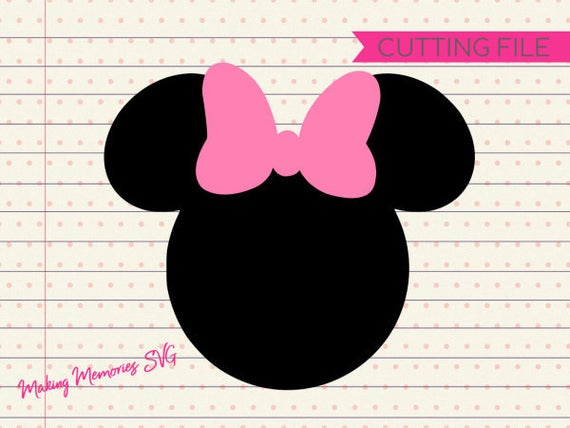 Minnie mouse head svg, minnie mouse silhouette svg, Disney svg, Minnie  mouse clipart, cutting files for cricut silhouette, INSTANT DOWNLOAD.