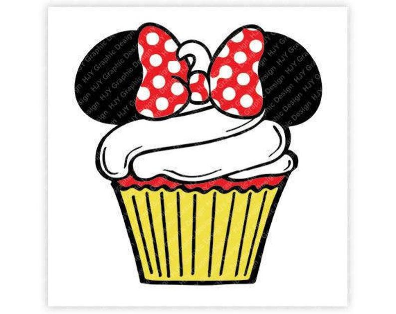 Disney, Mickey, Minnie, Mouse, Cupcake, Birthday, Icon, Head, Ears,  Digital, Download, TShirt, Cut File, SVG, Iron on, Transfer.
