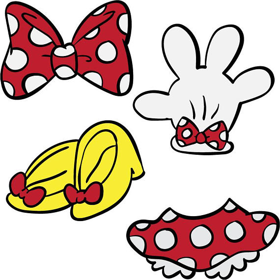 Minnie Mouse Skirt Clipart.