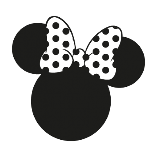 Minnie Mouse Ears Silhouette Clip Art free image.