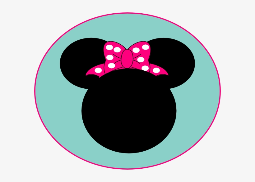 Pink Mouse Bow Clip Art.
