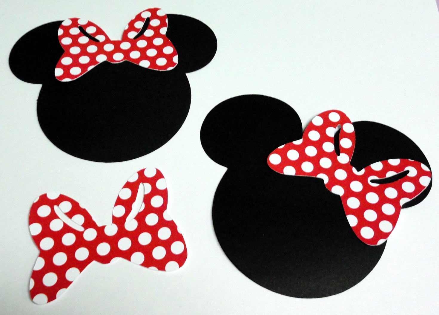 Minnie Mouse Outline Head.