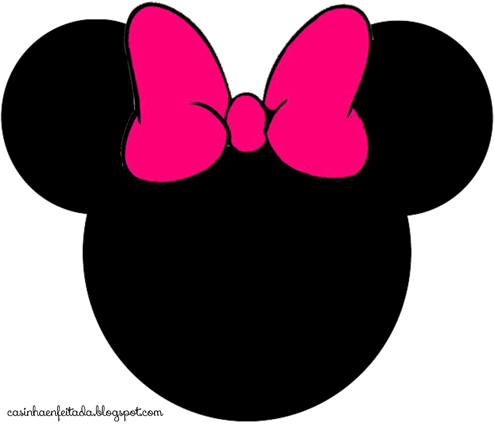 Minnie Mouse Outline With Minnie Mouse Face Clipart : Minnie Mouse.