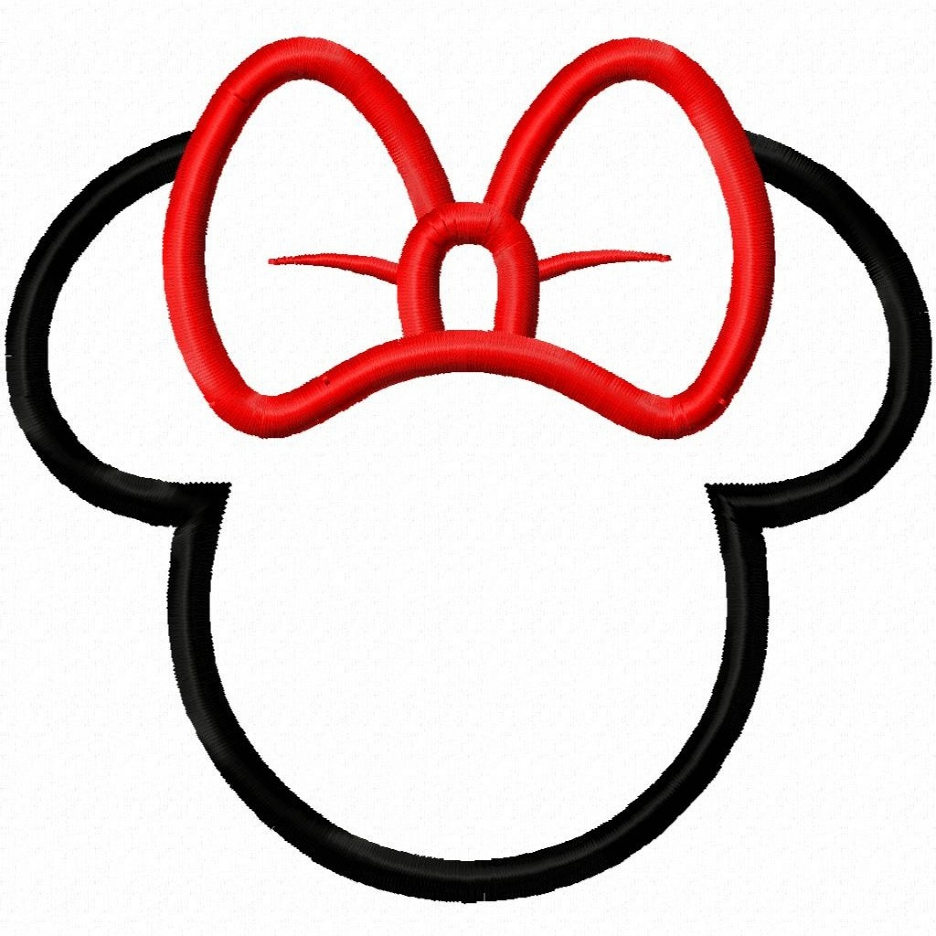 Minnie Mouse Head Clip Art.