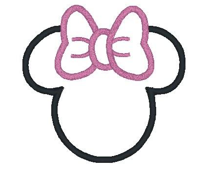 Minnie Mouse Face Template Printable cakepins.com.