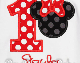 Minnie Mouse 1st Birthday Shirt