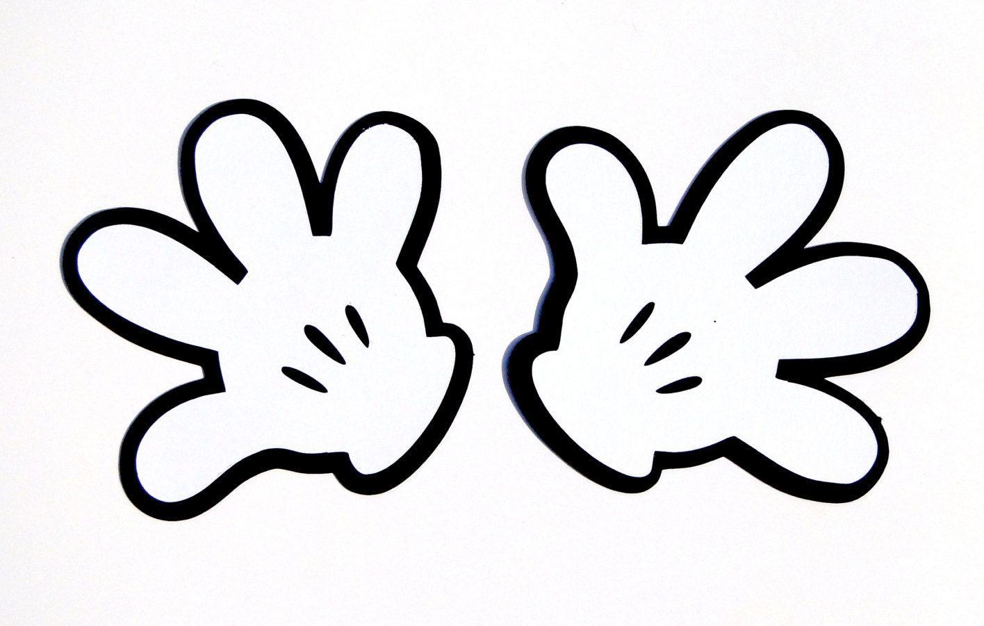 Resultado de imagen de Printable Template Mickey Mouse Hand.