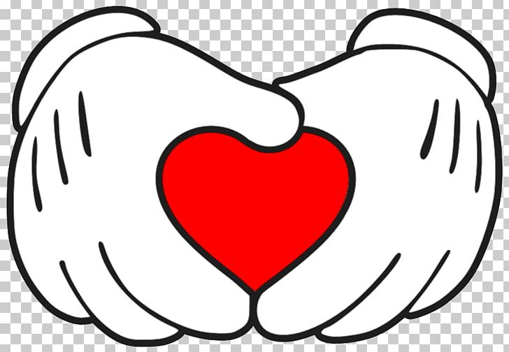 Mickey Mouse Minnie Mouse Hand Heart PNG, Clipart, Area, Art.