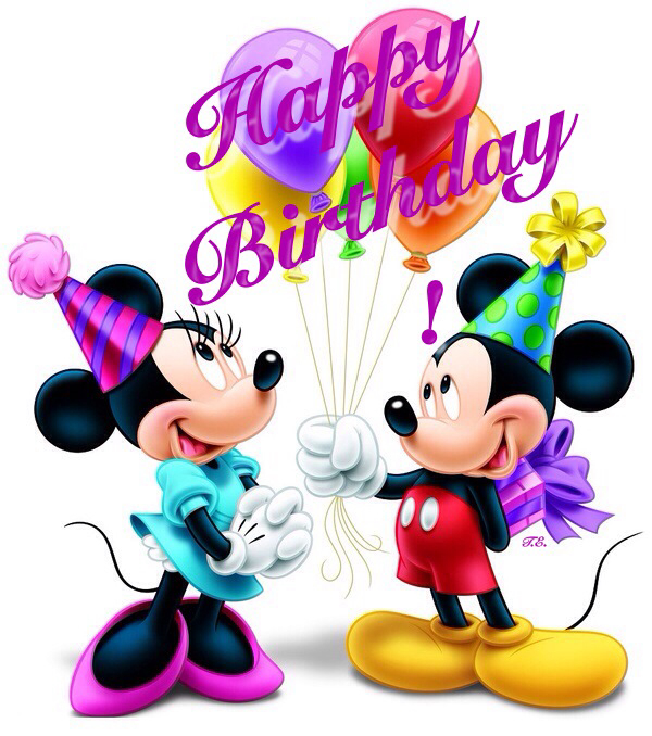 Happy BirthdayMickey and Minnie.