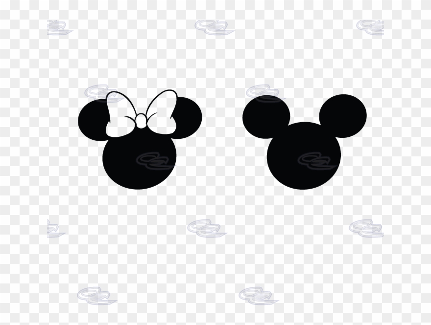 Mickey Minnie Mouse Head Silhouette N2 Free Image ,.