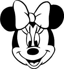 Minnie Mouse Black And White.