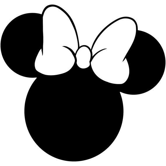 Minnie Mouse Head Silhouette Walt Disney Disneyland World.