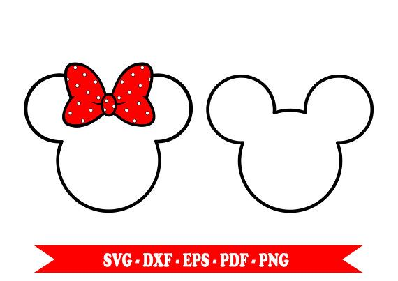 Minnie Mouse svg, Mickey Mouse svg, clip art outline svg, in.