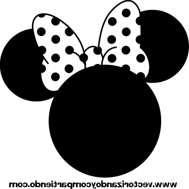 Minnie Mouse Ears Silhouette Clip Art.