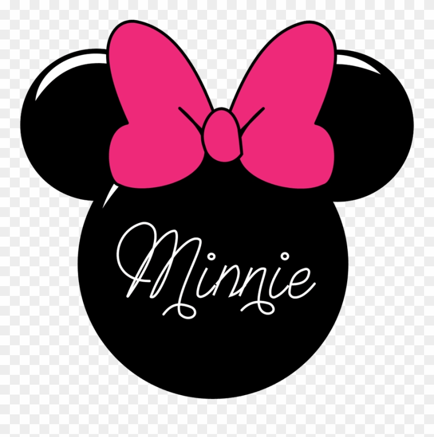 Minnie Mouse Silhouette Clip Art.