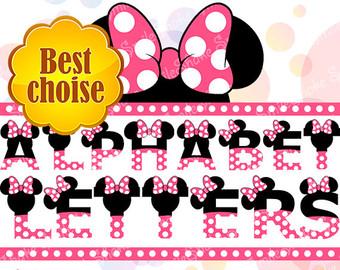 Minnie mouse alphabet.