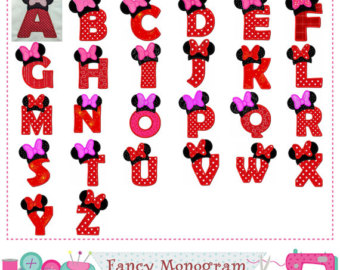Minnie Mouse On The Letter Z Clipart.
