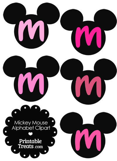 Pink Minnie Mouse On The Letter S Clipart.