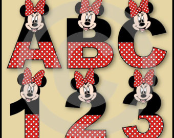 Minnie Mouse On The Letter S Clipart.