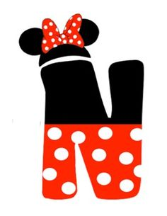 Mickey and Minnie Mouse Letters.