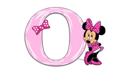 Minnie Mouse Pink Alphabet.