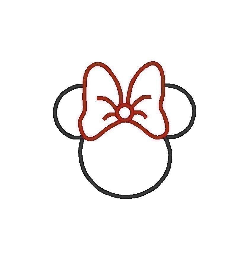 Minnie Mouse Head Outline Clip Art images collection for.