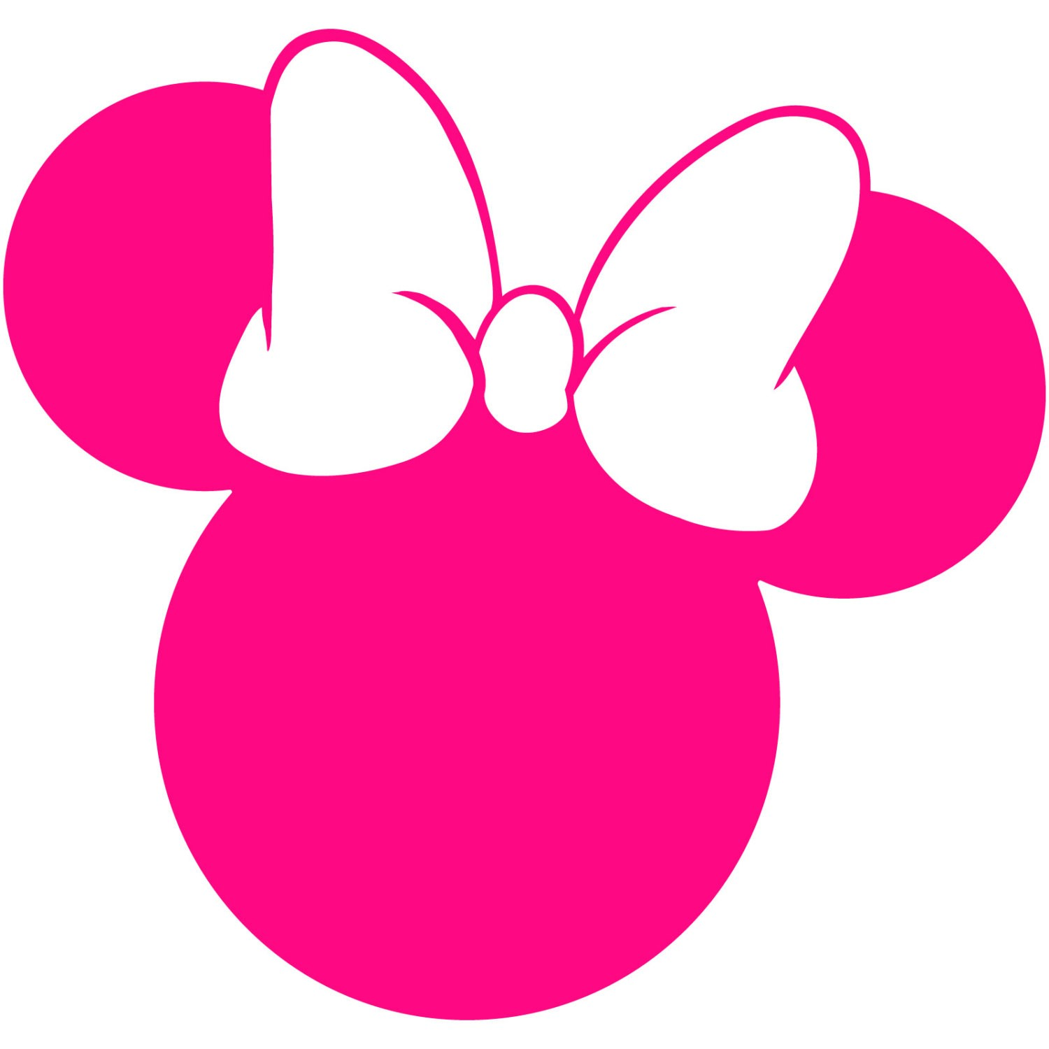 Minnie Mouse Head Outline Free Download Clip Art.