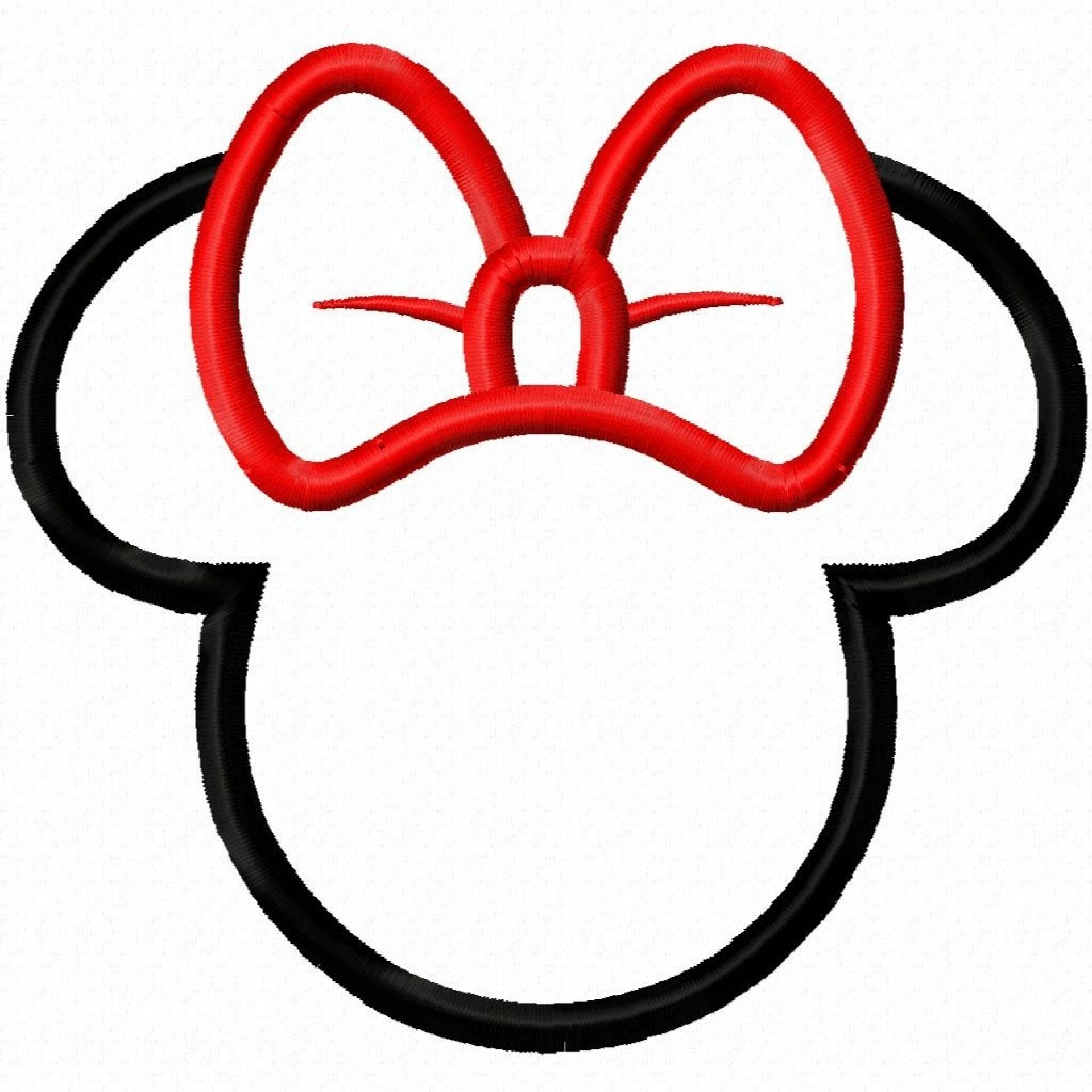 Minnie Mouse Bow Template.