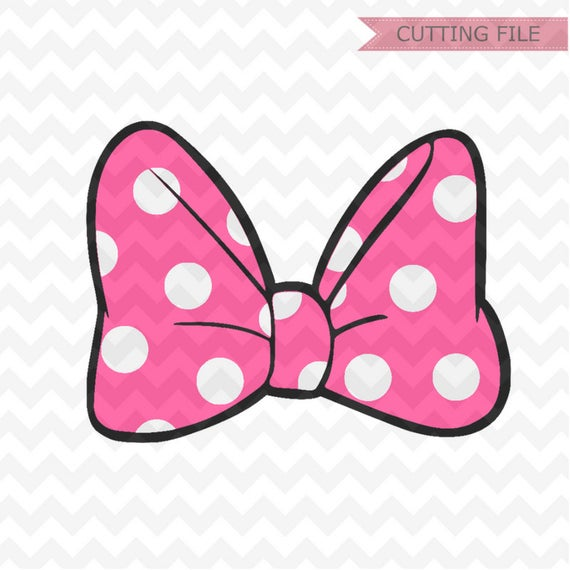 Minnie Mouse bow svg, LAYERED minnie mouse cute bow polkadots svg and png  instant download, minnie bow svg for cricut and silhouette.