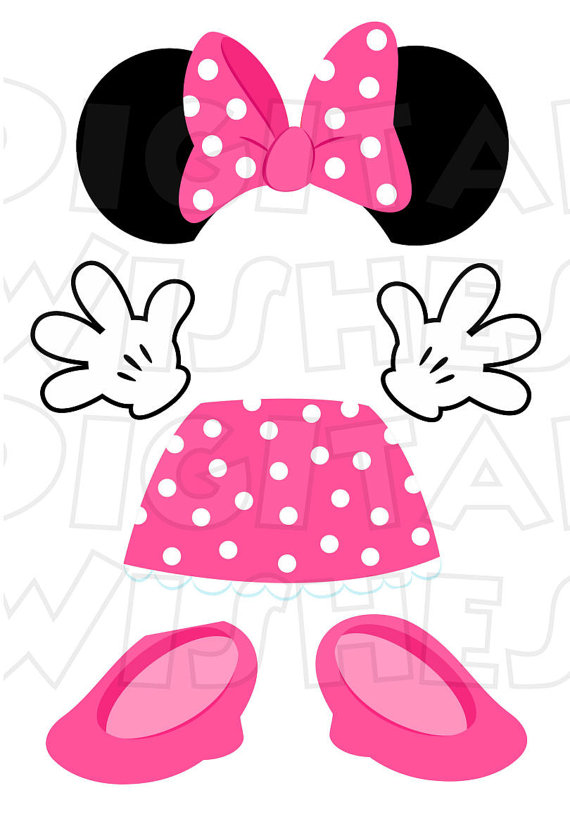 Minnie Mouse PINK body parts for state room Disney cruise.
