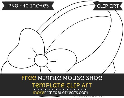 Free Minnie Mouse Shoe Template.