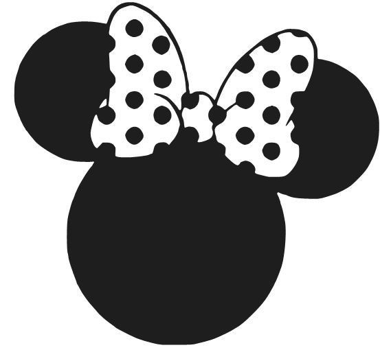 Free Minnie Mouse Silhouette, Download Free Clip Art, Free.