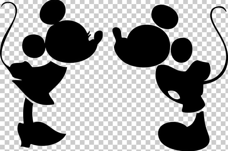 Minnie Mouse Mickey Mouse Silhouette Kiss PNG, Clipart.