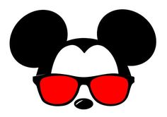 Mickey Mouse Silhouette Sunglasses.