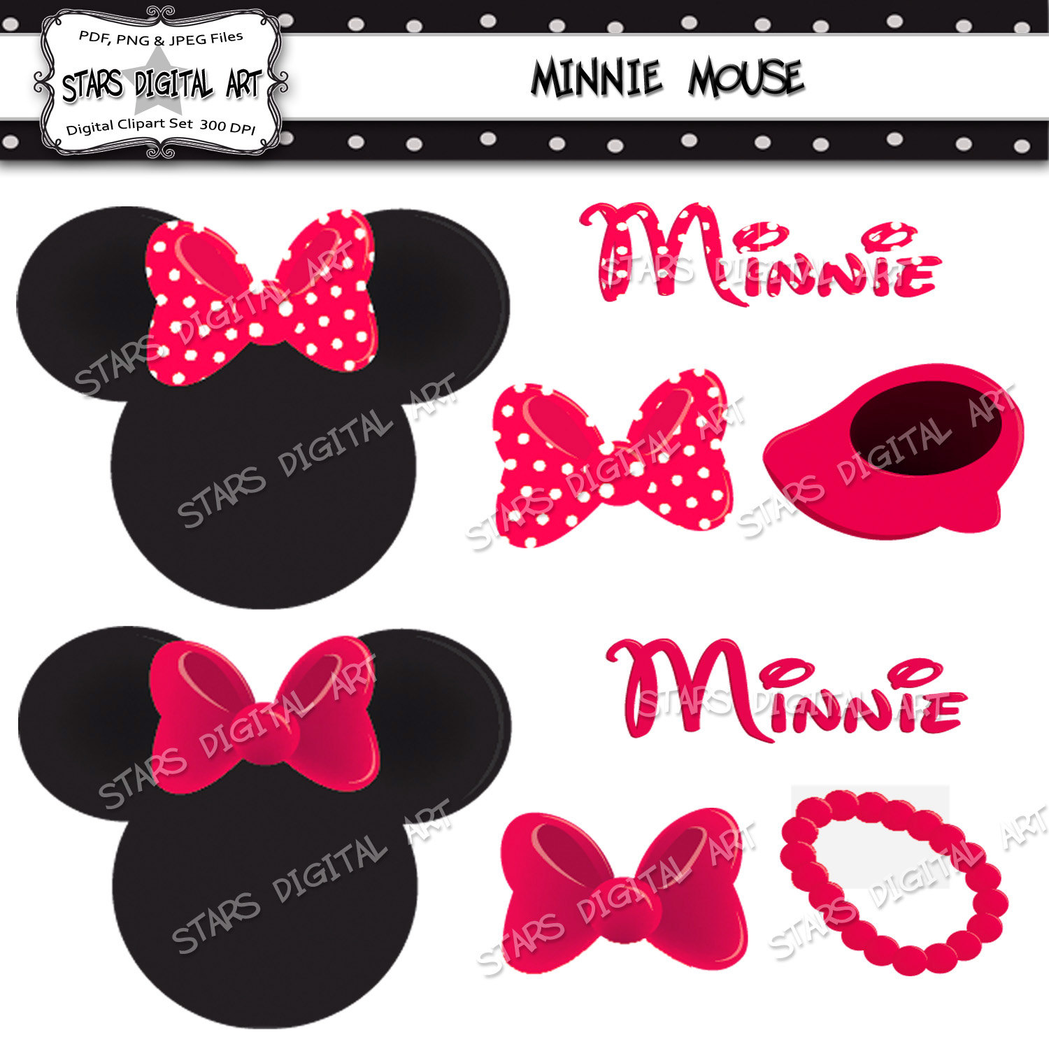 Minnie Mouse Birthday Clip Art Shoes.