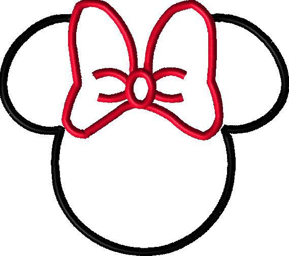 Applique Minnie Shoes Clipart.