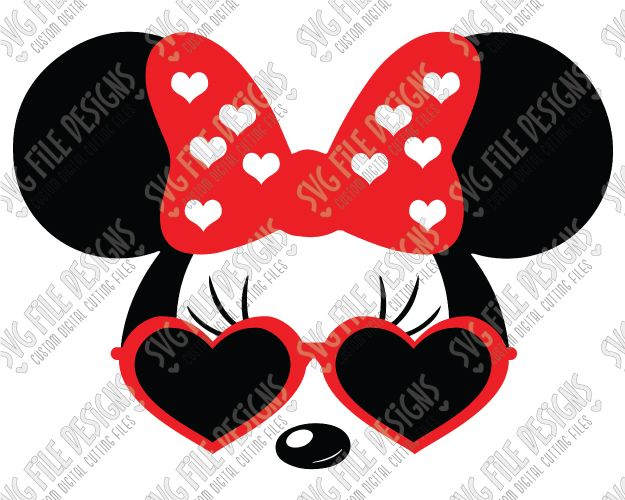 Minnie Mouse Glasses Clipart.