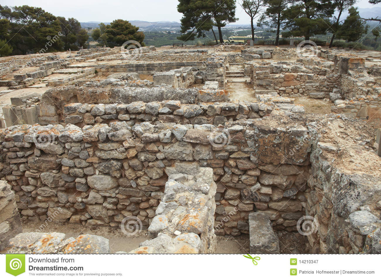 Part Of The Ancient Minoan City Of Phaistos Royalty Free Stock.