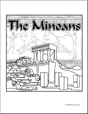 Clip Art: Ancient Civilizations: The Minoans (coloring page.